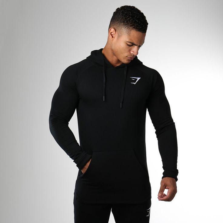 Gymshark Autumn new Crossfit Mens pullover Fashion leisure fitness Hoodies jackets Sweatshirts Bodybuilding sportswear topcoat