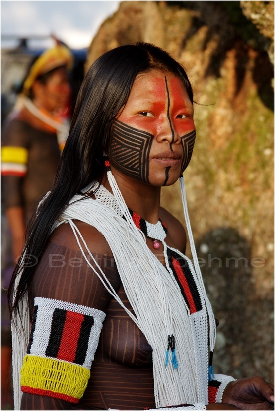 Kayapo woman, Brazil | as described in The Blue Amaryllis, a love story set in the Amazon rainforest, coming summer 2014