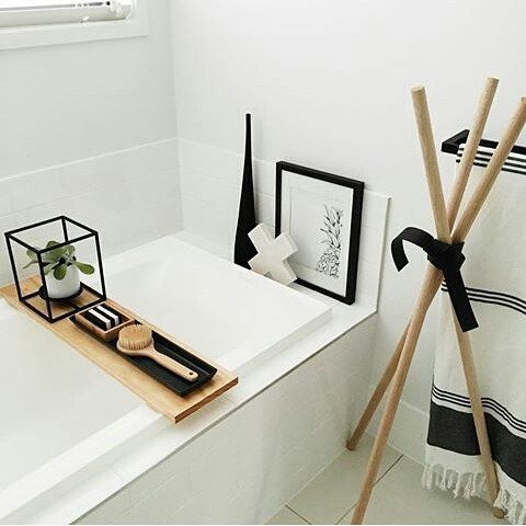 @kate.lives.here has some #kmartgoodies for her beautiful bathroom feat #kmartaus marble X, towel and the plant holder