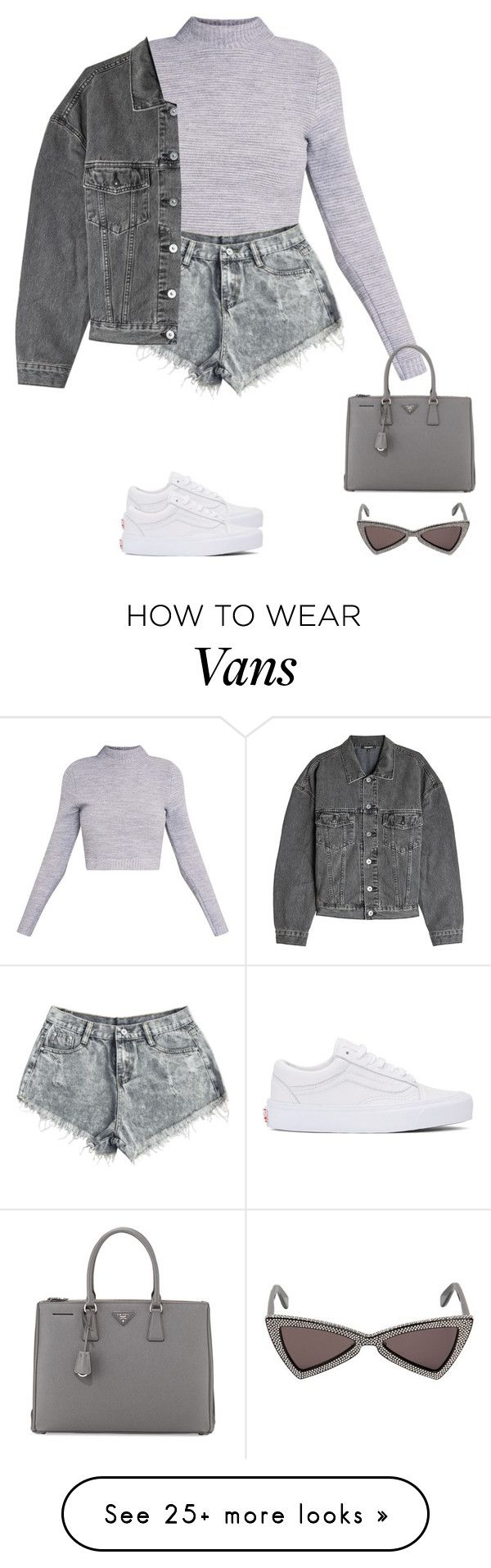 """""""grays"""" by tiffvnyyy on Polyvore featuring Yves Saint Laurent, Vans, Yeezy by Kanye West and Prada"""