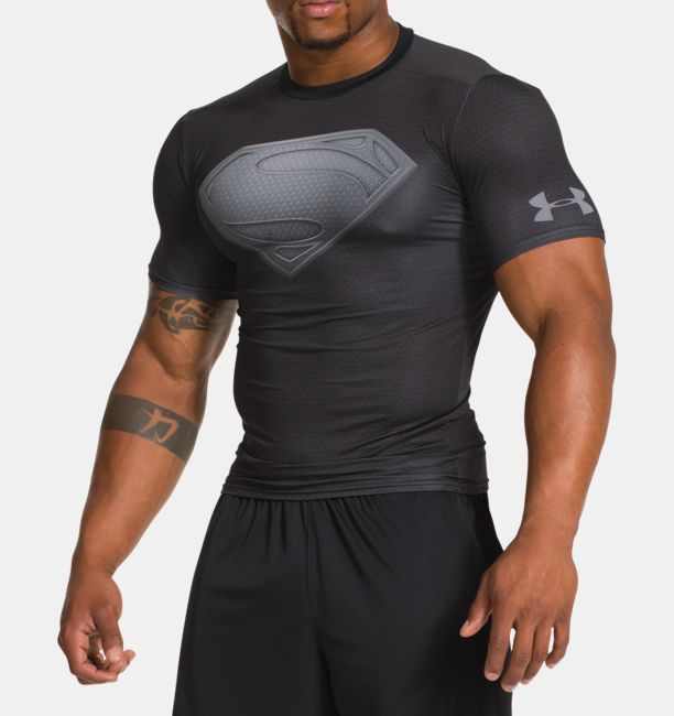 Men's Under Armour® Alter Ego Man Of Steel Compression Shirt, Black