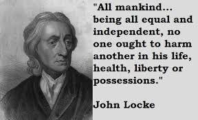 -Persoon- John Locke Filosoof uit Wrington, Oxford 1632-1704  Gestudeerd aan de universiteit van Oxford. Zijn lessen/programma was het bestuderen van de natuur in plaats van boeken. Locke was het er niet mee eens dat een vorst een goddelijk recht hadden om te regeren. HIj vond dat de natuur alle mensen gelijke rechten had gegeven. Dit noemde hij natuurrechten. Hij vond dat een mensen in opstand konden komen als een vorst zijn land niet goed bestuurde.