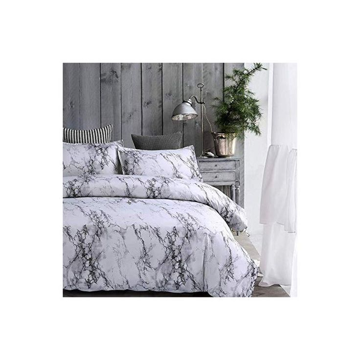 Amor Amore White Marble Comforter Gray Grey And White Comforter Set Super Soft Microfiber Bedding Mar White Comforter Comforter Sets Grey And White Comforter