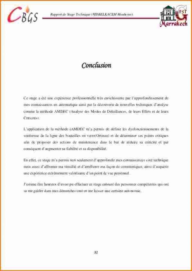 12 Conclusion Rapport De Stage Gouvernoratmaniema Modele De Remerciement Lecture De Plan Rediger Un Rapport