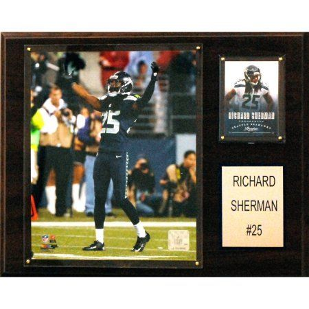 C Collectables NFL 12x15 Roger Sherman Seattle Seahawks Player Plaque