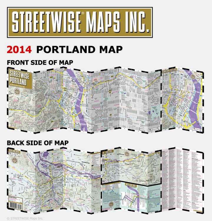 Map of Downtown Portland Oregon | ... ® Portland Map 2014 - City Center Street Map of Portland, Oregon