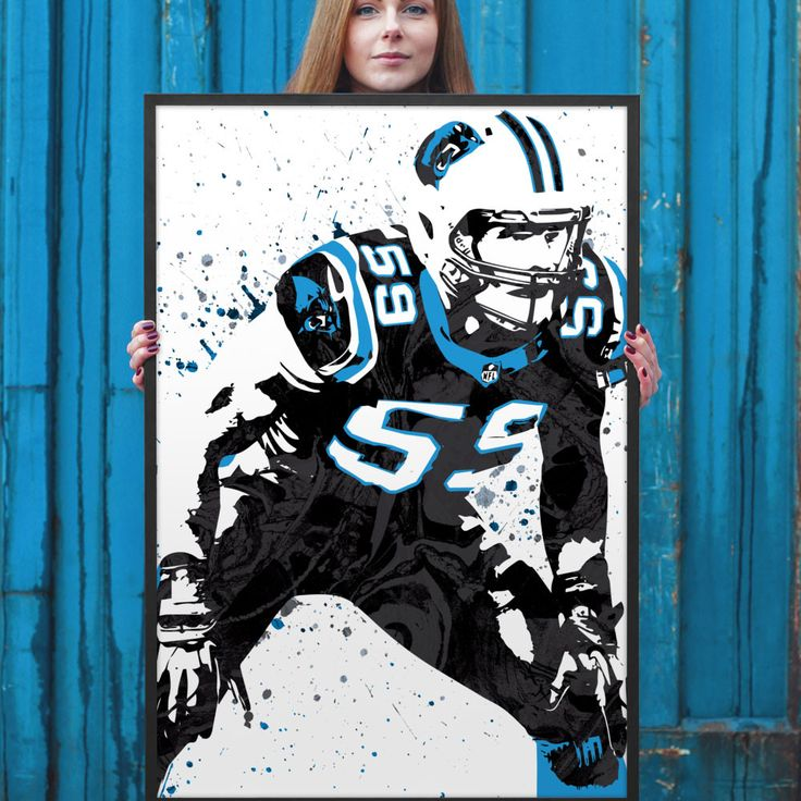 Luke Kuechly poster. Kuechly is an American football Linebacker for the Carolina Panthers of the National Football League (NFL). He was drafted by the Panthers ninth overall in the 2012 NFL Draft. He