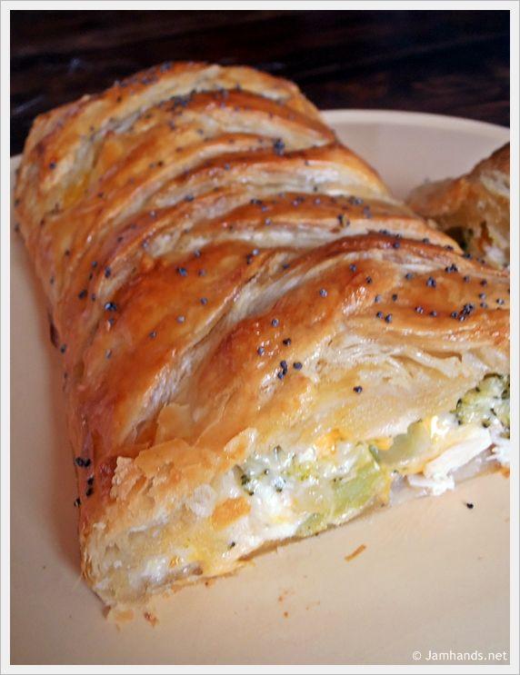 Broccoli Cheddar Chicken Braid~ easy meal with crecent rolls