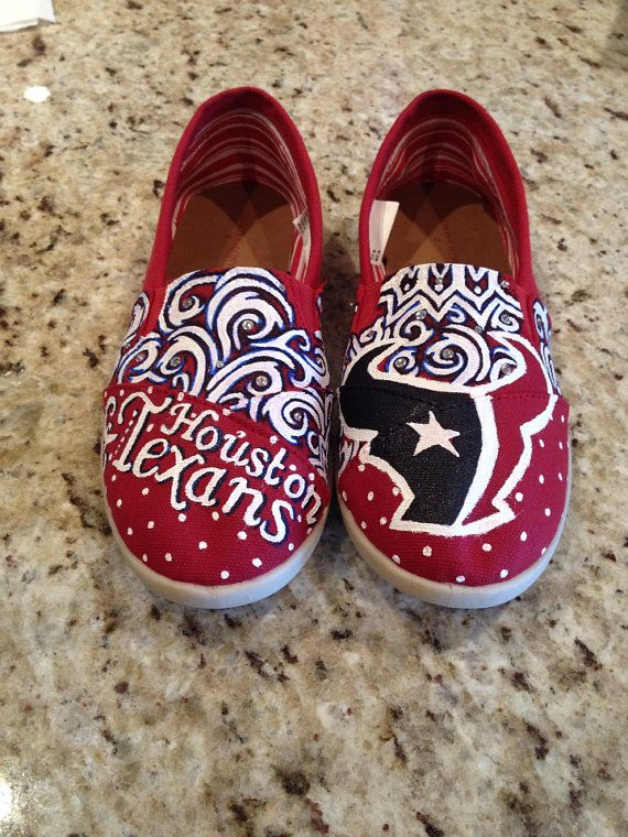 Custom painted texans shoes WITHOUT crystals by HaloHouse on Etsy, $115.00