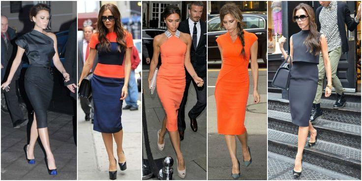 sukienka oranż victoria beckham