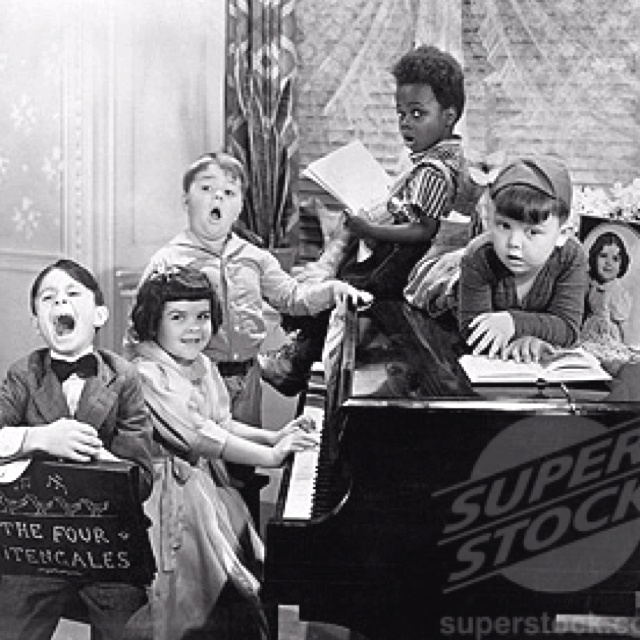 Our Gang also known as the Little Rascals..Alfalfa, Darla, Spanky, Buckwheat and Porky and