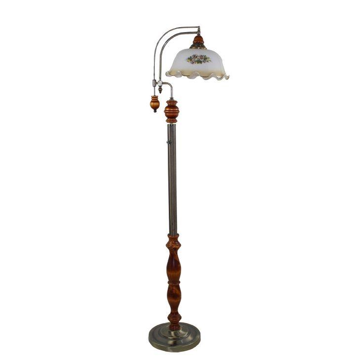 353.23$  Buy now - http://alizec.worldwells.pw/go.php?t=32542090665 - European retro floor lamps garden lights high-grade mahogany Arts standing lamp floor lamp dimmable England HGHome