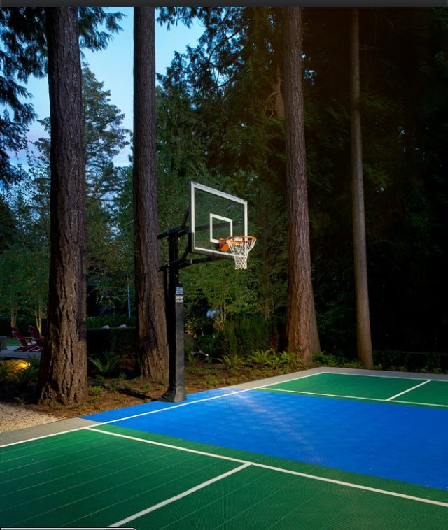17 best images about backyard court designs on pinterest for Backyard sport court ideas