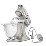 KitchenAid Design Series 5 Quart Artisan Stand Mixer - Sugar Pearl Silver