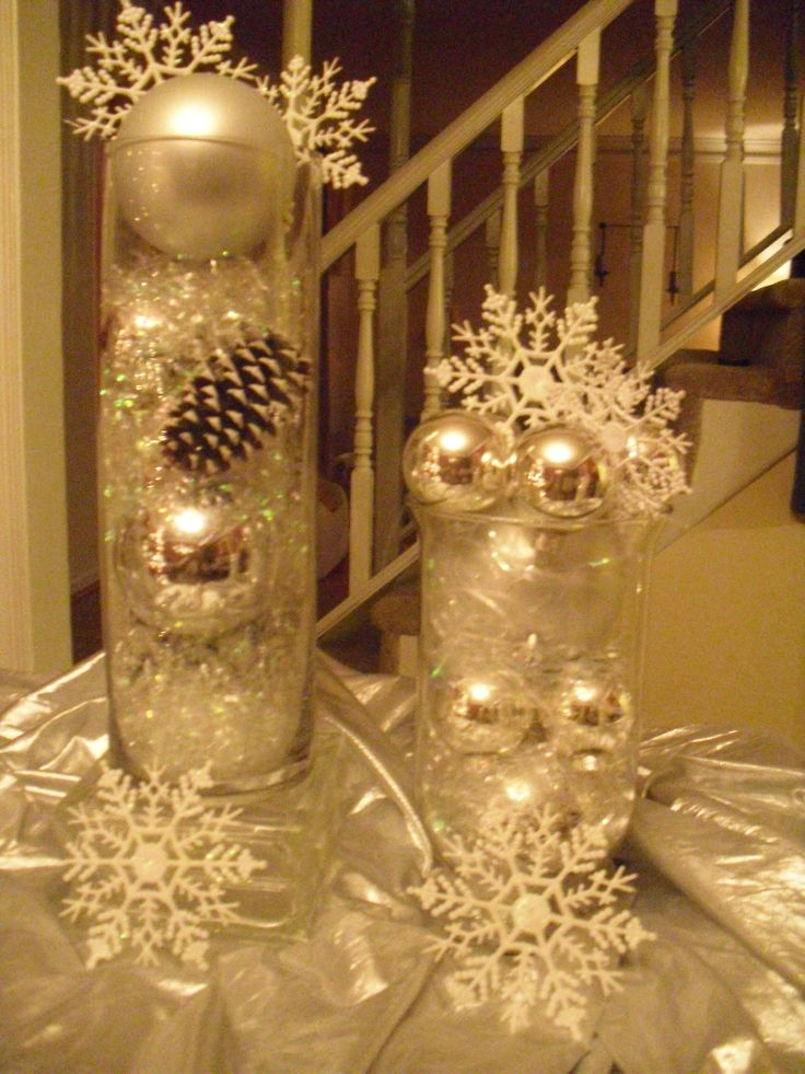 Working on a upcoming birthday party for December - Decorating Tip: If you need fillers for vases try pine cones. U can spray paint them any color you like and add them with your other fillers & best of all they R FREE. Try them in white, ivory, gold or silver. See sample created by me. ATFHEvents 336-875-0185