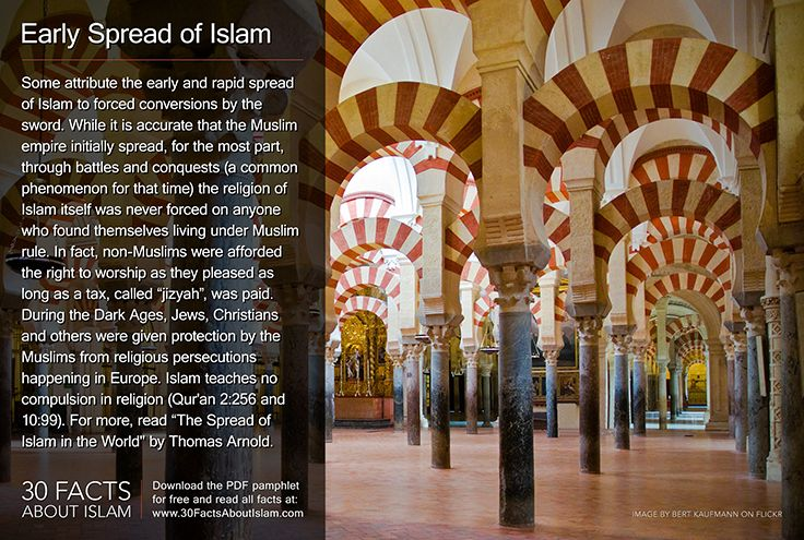 a history of the spread of religion through conquest Islam spread by traders through the familiarization of people with the good morals of muslims and by the truthfulnes and logic of islam religion refer to question below the question conquest or trade is a false dichotomy.