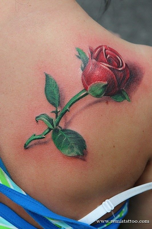 Rose Tattoos For Girls | if you decide to opt for a flower as a tattoo you might as well go for ...