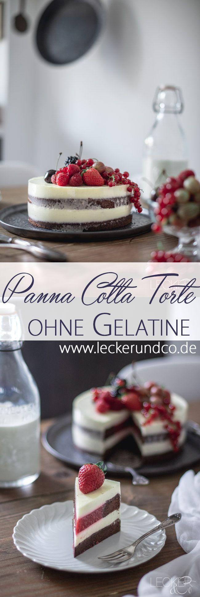 Panna Cotta Kuchen mit Beeren | ohne gelatine   – Rezepte: Kuchen & Torten