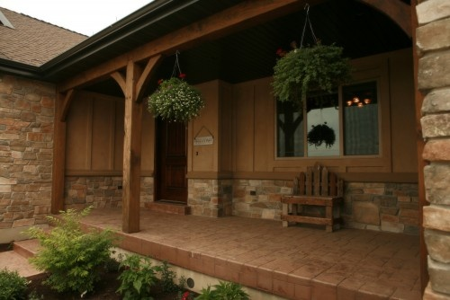 Best 25 rustic front porches ideas on pinterest porch for Rustic porch columns