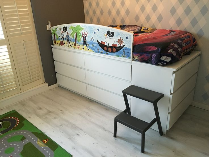 Ikeahack - bed and storage in one! #ikeahack #malm #becreative :/)