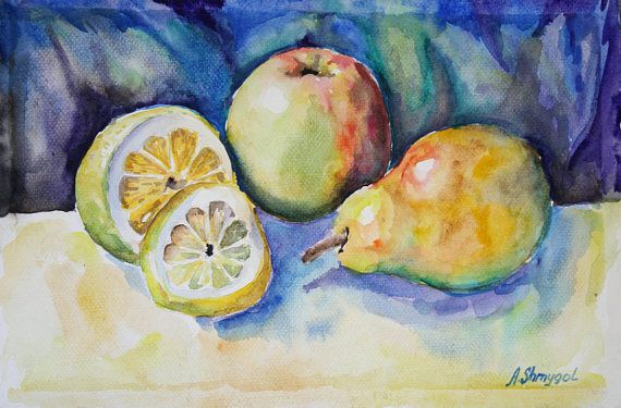 Check out this item in my Etsy shop https://www.etsy.com/listing/527191924/original-watercolor-painting-fruit-still