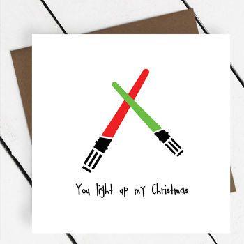 'You Light Up My Christmas' Star Wars Card