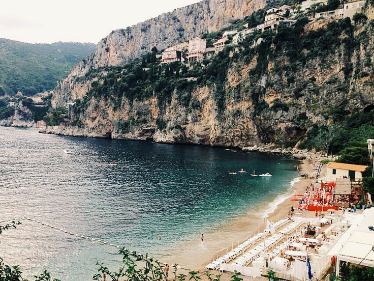 Plage de la Mala, secretly nestled between Nice and Monte Carlo in Cap d'Ail, France.  Ahhhh...take me back!