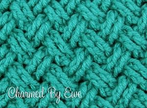 Crochet Tutoral: Celtic Diagonal Weave in Rounds