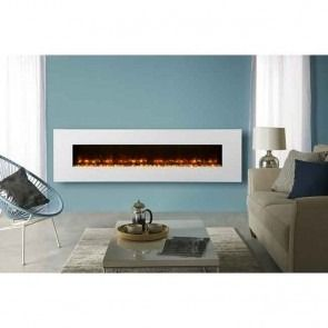 Gazco Radiance 190W White Glass Electric Wall Mounted Fire
