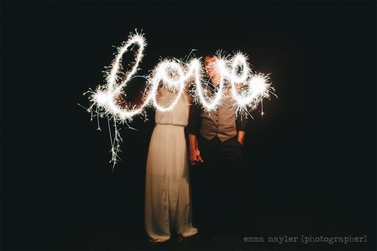 Emma Nayler [Photographer] www.emmanaylerphotographer.com.au    Kenilworth Homestead Wedding Sparkler fun