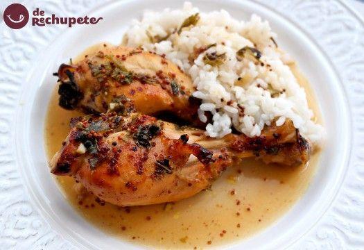pollo con mostaza y miel