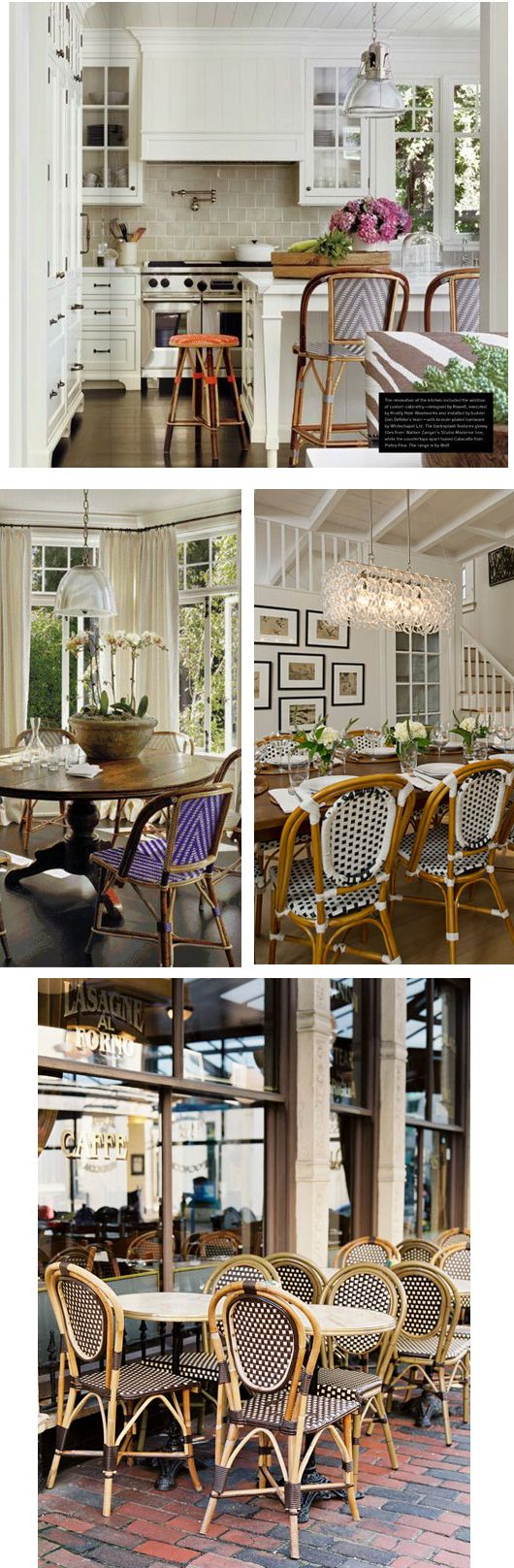 Spaces with French bistro chairs via www.ariannabelle.com/blog