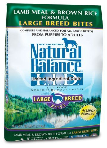 Natural Balance Dry Dog Food Limited Ingredient Diet for Large Breeds, Lamb Meal and Rice, 28 Pound Bag - http://weloveourpugs.net/?product=natural-balance-dry-dog-food-limited-ingredient-diet-for-large-breeds-lamb-meal-and-rice-28-pound-bag