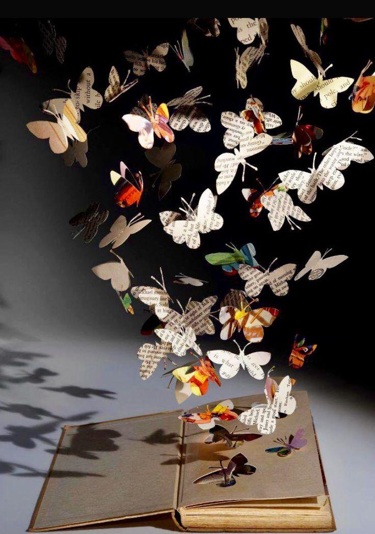 Libros...  Feliz día del libro Día internacional del libro #libros#mariposas