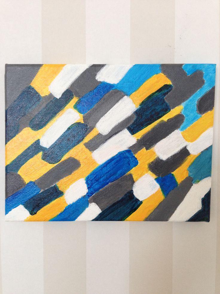Blå färgvision - Akryl på canvas