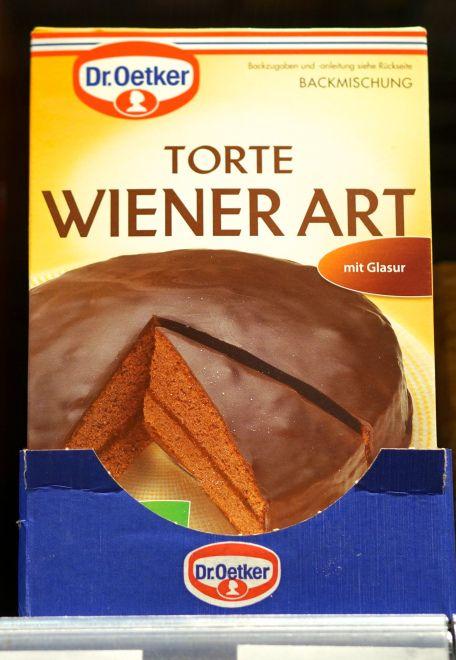 Fun global supermarket souvenir finds: sacher torte mix