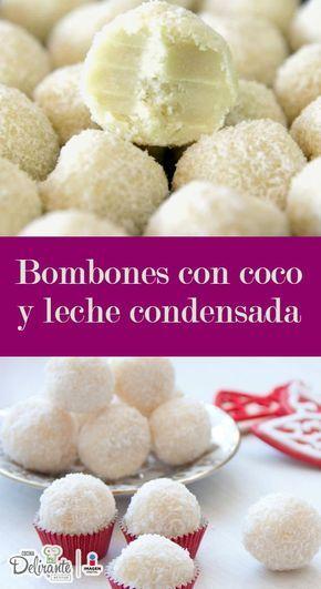 bombones de coco y leche condensada facil | CocinaDelirante