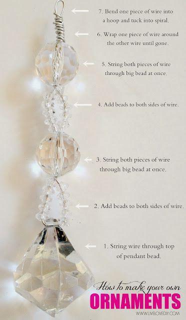Cómo hacer tus propios moldeado magnífico adornos de Navidad usando artículos de la tienda de dólar!  Love this!