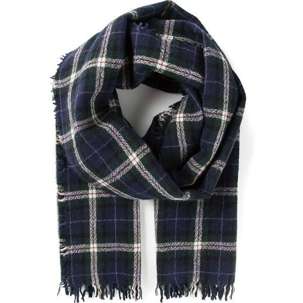 ISABEL MARANT ETOILE checked fringed scarf found on Polyvore