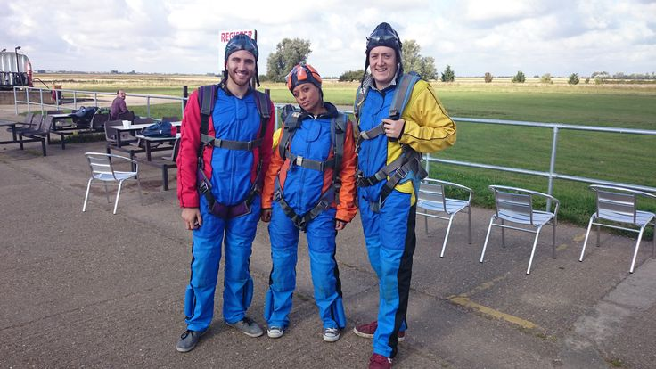 Our skydivers getting ready before their jump! #TCT #charity #skydive