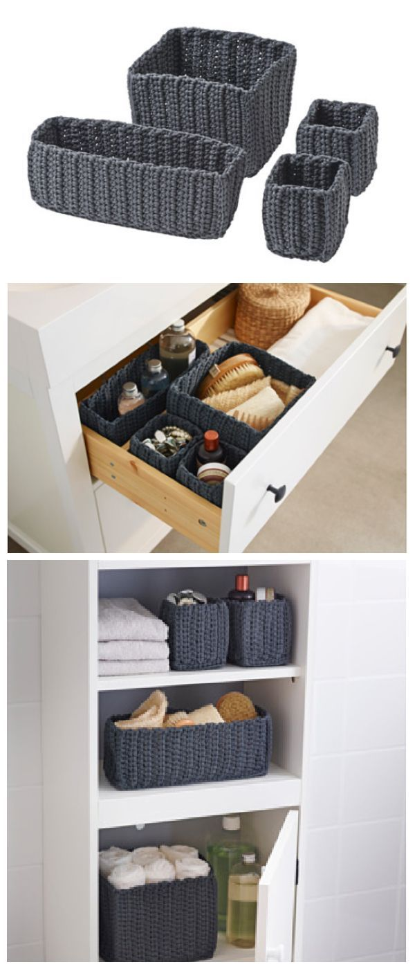 IKEA Fan Favorite: NORDRANA basket. These handmade fan favorites help you organize your bathroom in style.