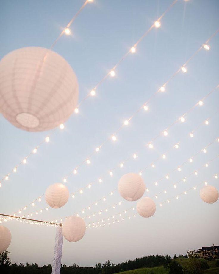 Led verlichting snoer met hier aan een aantal lampionnen. Mooie decoratie op je…