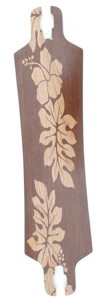 Haole Longboard skateboard with Hibiscus design by HaoleBoards, $149.00