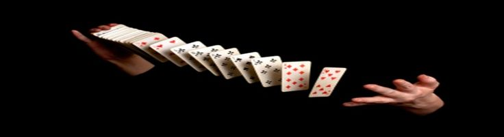 Make a deck of cards appear to defy gravity.   PIN IT! http://www.magictricksreviewed.com/ #magic card tricks #magic tricks #magic #tricks with cards #magician #card tricks #cards with tricks