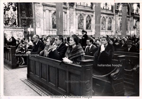 Nov. 23, 1958: published caption: At Church: prince Rainier of Monaco and his wife, the former Grace Kelly, attending mass at St. Ignatius Loyola Roman Catholic Churc. Beside royal couple are Mr. and Mrs. John B. kelly, the Princess' parents. In rear is her sister, Mr. Donald Le Vine.