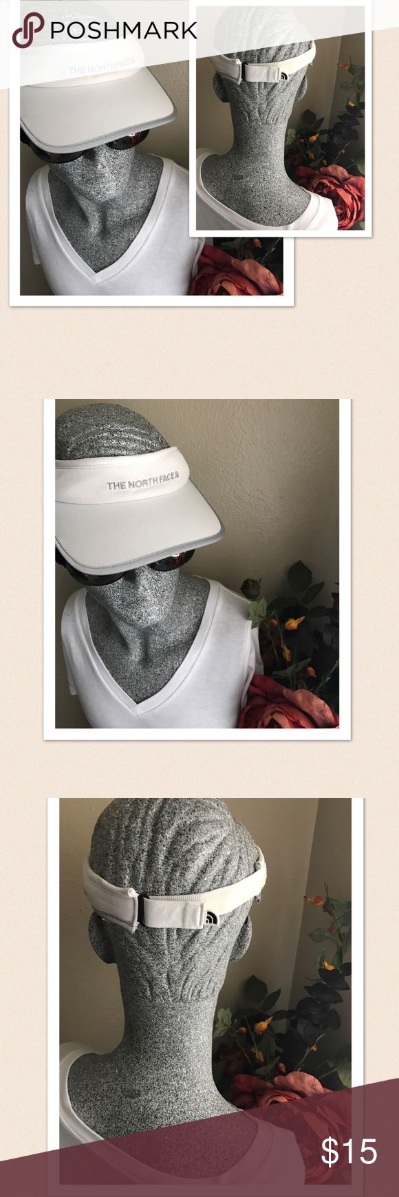 The Northface Visor Hat Unisex Unisex.. The Northface Visor Hat. Size: One size. Color: White & Gray. Velcro closure at the back. Gently worn. Excellent condition. If this condition is not right for you do not purchase. The North Face Accessories Hats