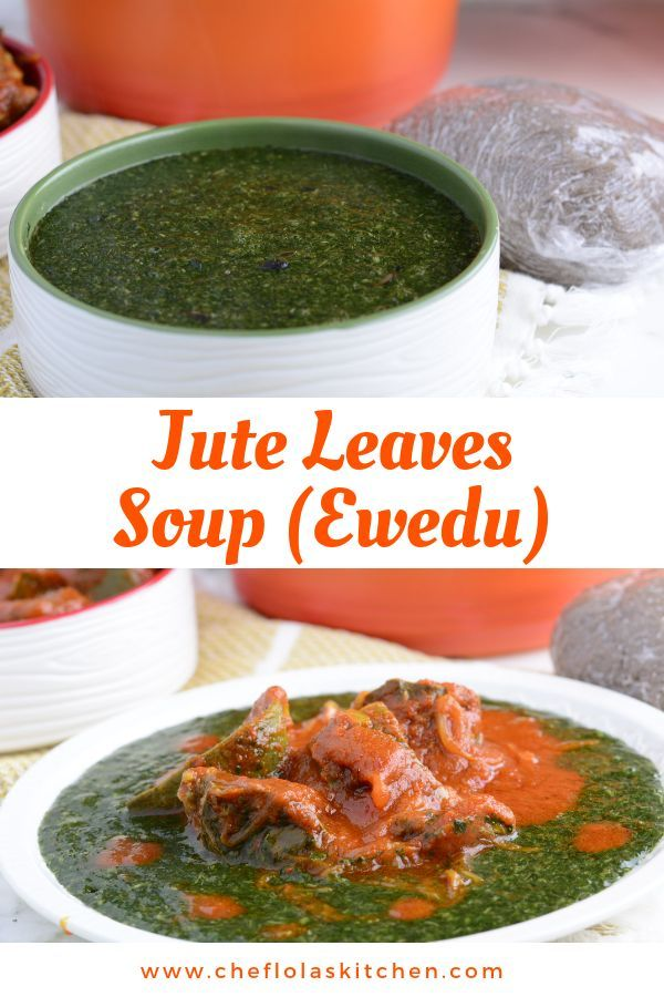 Jute Leaves Soup Ewedu Mulukhiyah Or Molokhia Recipe Delicious Soup Egyptian Food Swallow Food