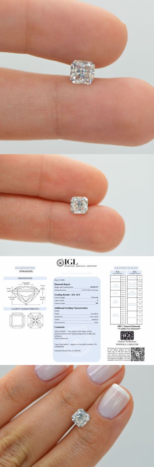 Enhanced Natural Diamonds 152810: 1.22 Carat Radiant Cut Natural Loose Diamond F Si2 Enhanced For Engagement Ring -> BUY IT NOW ONLY: $1999.99 on eBay!