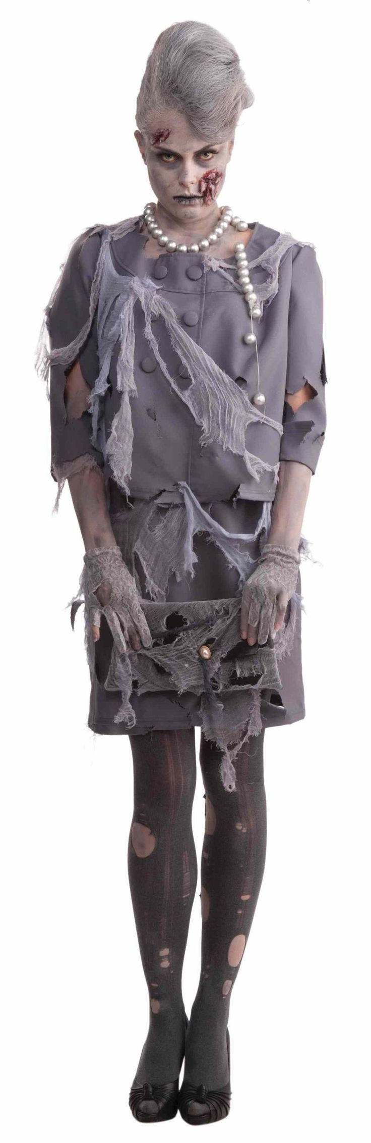 Amazon.com: Woman's Zombie Costume, Gray, One Size: Adult Sized Costumes: Clothing
