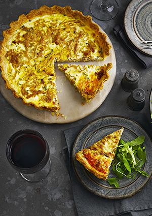 Onion tarte tatin is hugely fashionable, but this tart is more old-school – almost a quiche, with long strands of just-caramelised onion in an unctuous savoury custard. We love it. It matches really well with an off-dry pinot gris from Alsace or nebbiolo, the barolo grape from northern Italy.